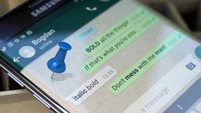 Whatsapp'da Sohbet Sabitleme Devri!